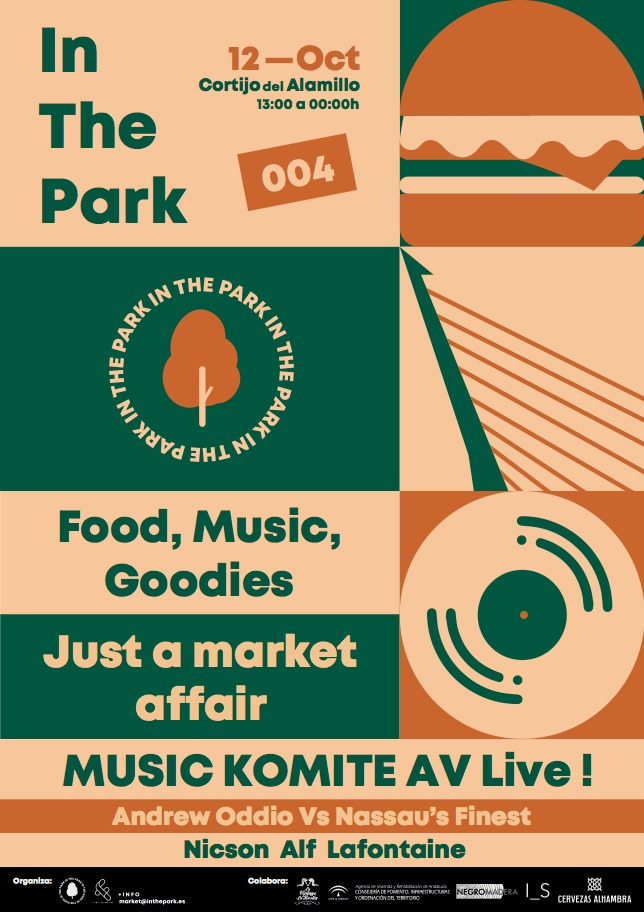 In the Park Flyer Parque Alamillo 12 de Octubre.  Lineup: Love Call (Nassau's Finest v. Andrew Oddio), Nicson, Alf, Lafontaine, & Music Komite AV